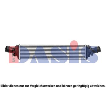 Intercooler, charger -- AKS DASIS, Core Dimensions: 712x159x80...