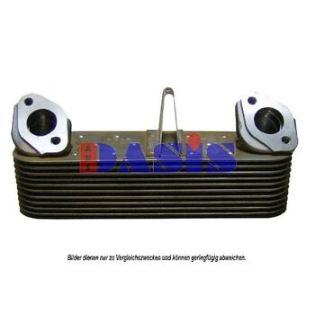 Oil Cooler, engine oil -- AKS DASIS, MERCEDES-BENZ, Radiator_Oil, NG, ...