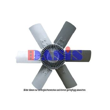 Fan, radiator -- AKS DASIS, Radiator_Visco Fan, Wingquantity 6...