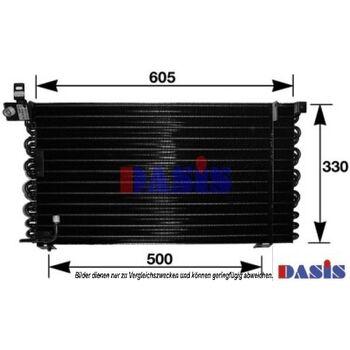Condenser, air conditioning -- AKS DASIS, PORSCHE, 928...
