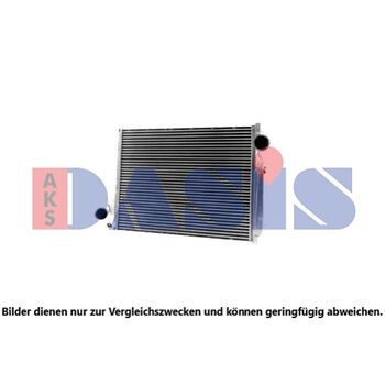 Intercooler, charger -- AKS DASIS, Core Dimensions: 945x726x68...