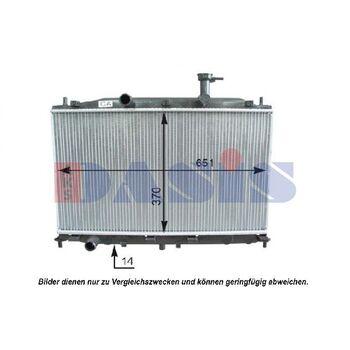 Kühler, Motorkühlung -- AKS DASIS, HYUNDAI, ACCENT III (MC), ...
