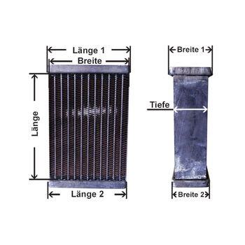 Core, radiator -- AKS DASIS, Radiator core all kind, Kupfer Bras and...