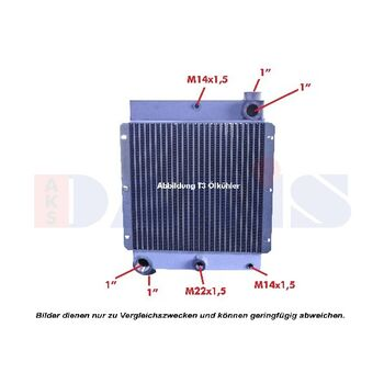 Oil Cooler, engine oil -- AKS DASIS, Alu Oil Cooler Industrie, T01 -...