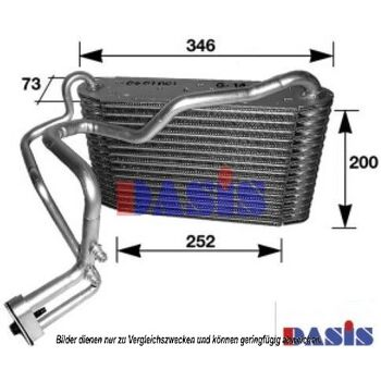 Evaporator, air conditioning -- AKS DASIS, AUDI, 80 (8C, B4), (8C2,, ...